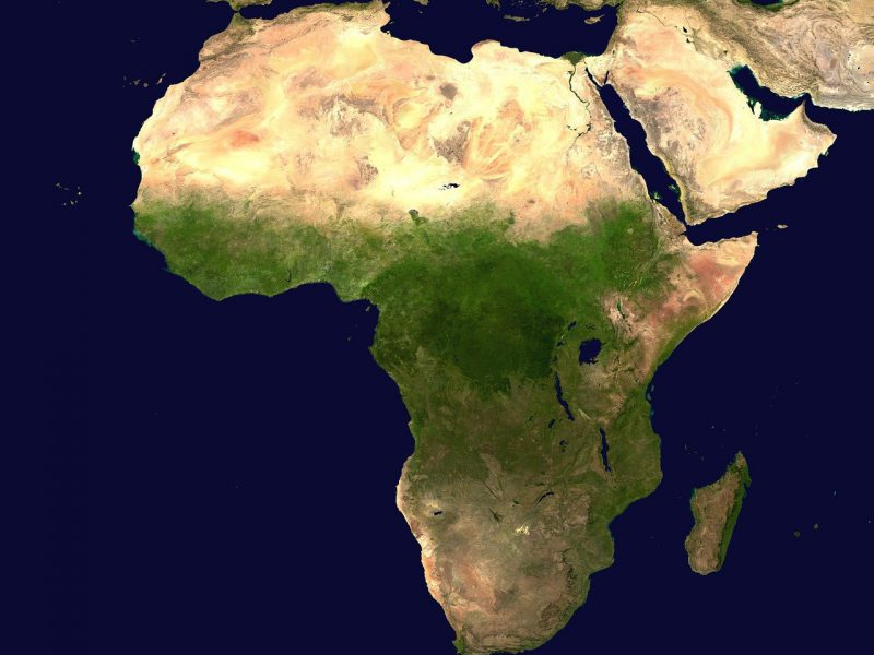 africa, continent, map of africa